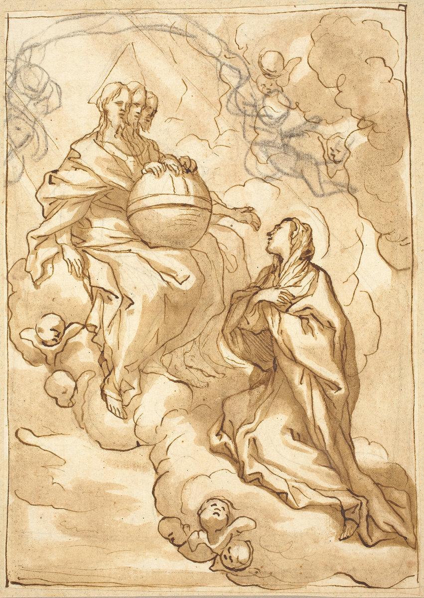 Domenico piola i the trinity 1627 nga